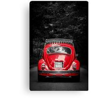 """'TOMMY' VW Beetle """"Life is a Journey"""" Canvas Print"""