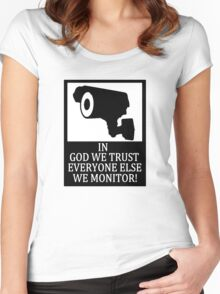 IN GOD WE TRUST Women's Fitted Scoop T-Shirt
