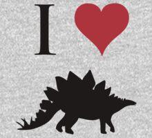 I Love Dinosaurs - Stegosaurus Kids Tee