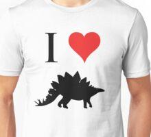 I Love Dinosaurs - Stegosaurus Unisex T-Shirt