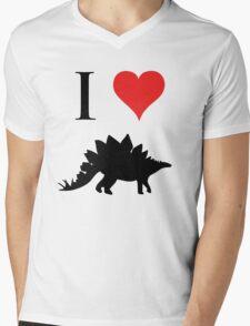 I Love Dinosaurs - Stegosaurus Mens V-Neck T-Shirt
