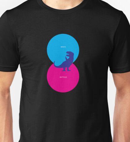 Dinosaur Venn Diagram (Birds + Reptiles) Unisex T-Shirt