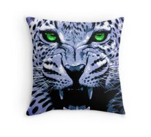 Look into my green eyes Throw Pillow