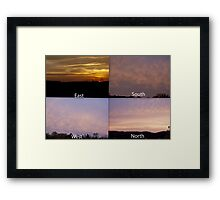 360 Degree Sunrise!!! Framed Print