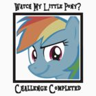 Challenge Accepted Rainbow Dash by danspy1994