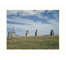GRAIN ELEVATORS, RAPELGE, MT Art Print