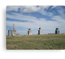 GRAIN ELEVATORS, RAPELGE, MT Canvas Print