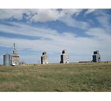 GRAIN ELEVATORS, RAPELGE, MT Photographic Print