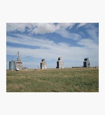 GRAIN ELEVATORS, RAPELGE, MT Photographic Print