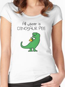 All Water Is Dinosaur Pee (T-Rex) Women's Fitted Scoop T-Shirt