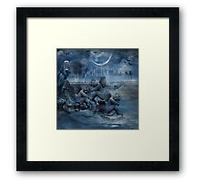 THE NIGHT THE ANGELS SLEPT Framed Print