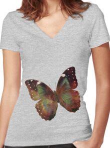 Universal Sentinel.  Women's Fitted V-Neck T-Shirt