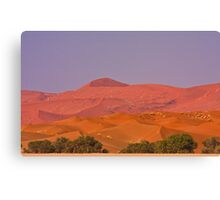 Dunes layered in pastel Canvas Print