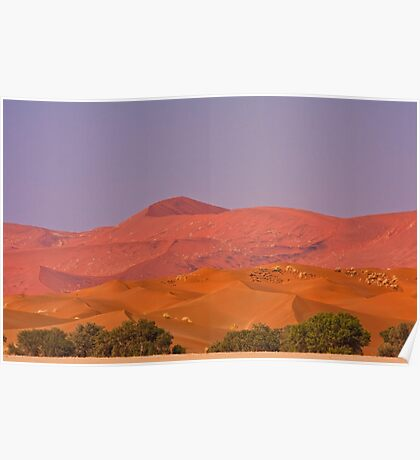 Dunes layered in pastel Poster