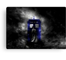 The Doctor and his blue box Canvas Print