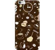 Coffee background iPhone Case/Skin