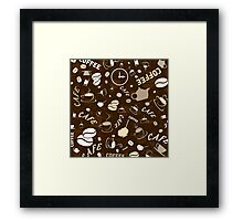 Coffee background Framed Print