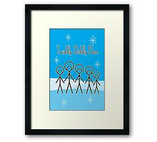 Twiddly Diddly (ice-blue) Framed Print