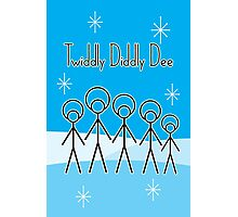 Twiddly Diddly (ice-blue) Photographic Print
