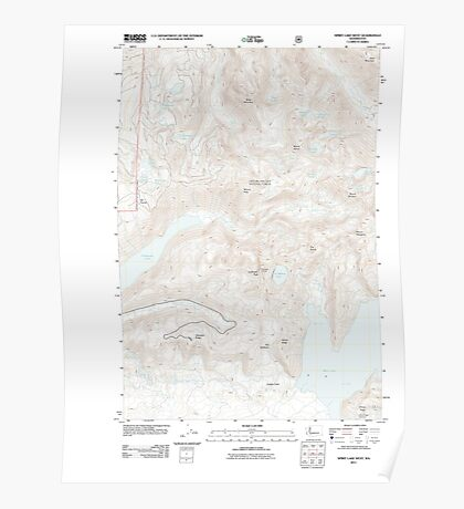 USGS Topo Map Washington State WA Spirit Lake West 20110901 TM Poster
