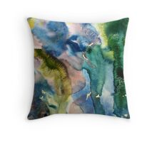 Abstract harmony in blues Throw Pillow
