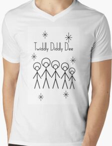 Twiddly Diddly (Black Ink) Mens V-Neck T-Shirt