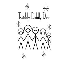 Twiddly Diddly (Black Ink) Photographic Print
