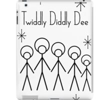 Twiddly Diddly (Black Ink) iPad Case/Skin