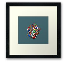 Mario Evolution Framed Print
