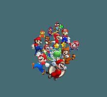 Mario Evolution Photographic Print