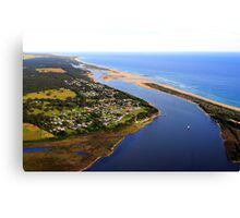 Marlo .Vic. East Gippsland View of Snowy River Entrance Canvas Print