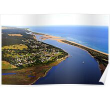 Marlo .Vic. East Gippsland View of Snowy River Entrance Poster