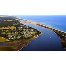 Marlo .Vic. East Gippsland View of Snowy River Entrance Photographic Print
