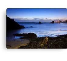 twilight at the beach  Canvas Print