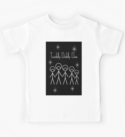 Twiddly Diddly (White Ink) Kids Tee