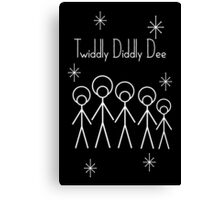 Twiddly Diddly (White Ink) Canvas Print