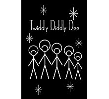 Twiddly Diddly (White Ink) Photographic Print