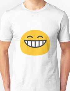 Grinning face with smiling eyes android emoji Unisex T-Shirt