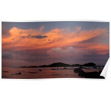 Tricolour sunset Poster
