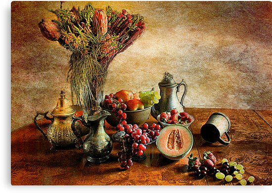 Fruit and Flowers Still life  by Irene  Burdell