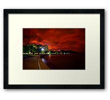 Esplanade beneath sunset Framed Print