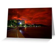 Esplanade beneath sunset Greeting Card