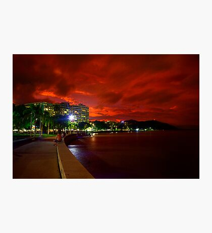 Esplanade beneath sunset Photographic Print