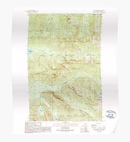 USGS Topo Map Washington State WA Mount Phelps 242525 1989 24000 Poster