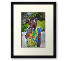 Henri smoking Framed Print