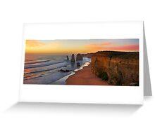 Late Sunset - 12 Apostles Greeting Card