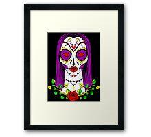 Day of the Dead girl Framed Print