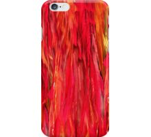 Red feathers iPhone Case/Skin