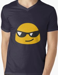 Smiling face with sunglasses android emoji Mens V-Neck T-Shirt