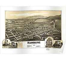 Panoramic Maps Hamburg Berks Co Penna 1889 Poster